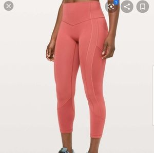 """Lululemon all the right places Brick Rose 23"""" sz 6"""
